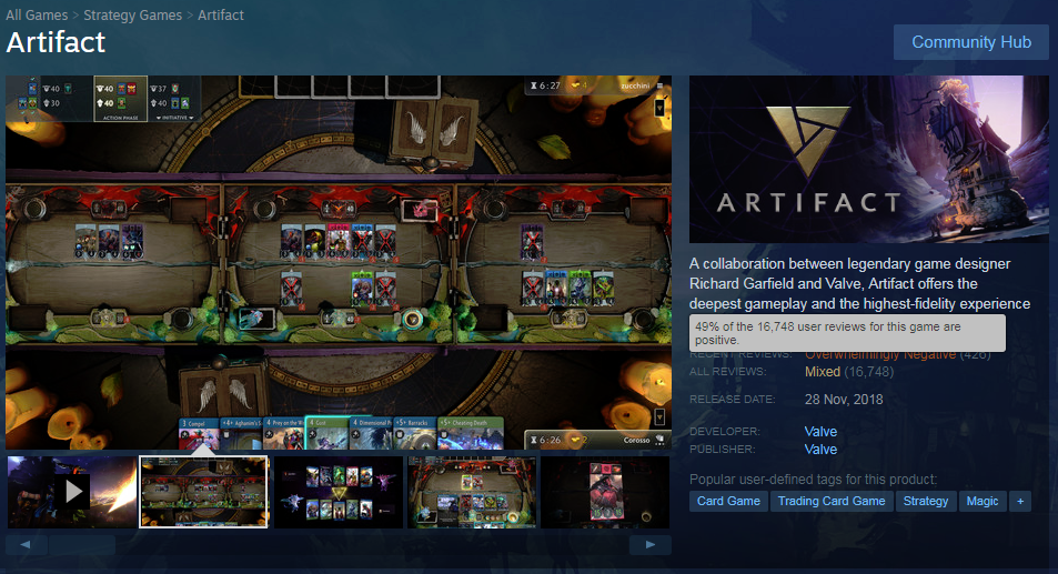 Click image for larger version  Name:Artifact - Steam store page, 15 Mar 2019 2.png Views:6 Size:732.6 KB ID:259342
