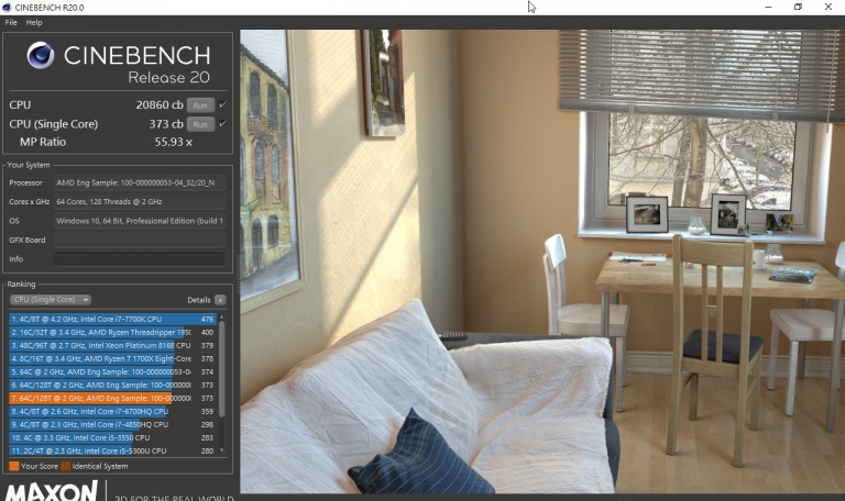 Click image for larger version  Name:CineBench R20 Rome.jpeg Views:14 Size:228.1 KB ID:292100