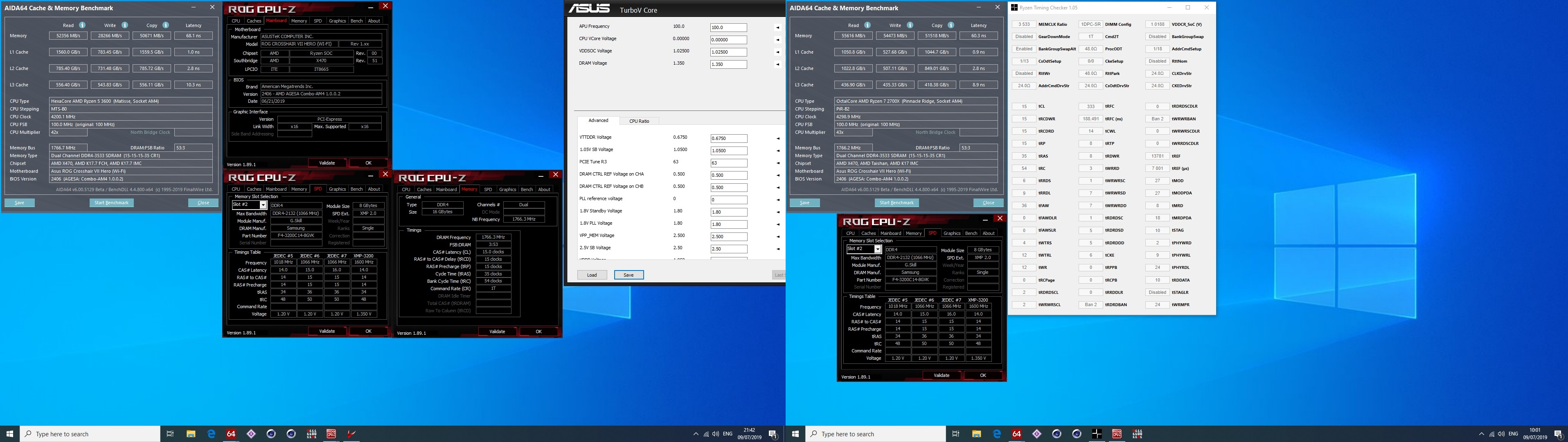 Click image for larger version  Name:R5 3600 vs 2700X 3533S AIDA64.jpg Views:72 Size:786.8 KB ID:279008