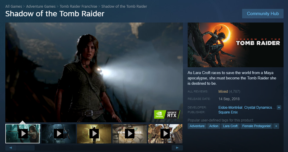Click image for larger version  Name:Shadow of the Tomb Raider - mixed reviews after 34% discount - 22 Oct 2018.PNG Views:117 Size:565.7 KB ID:226154