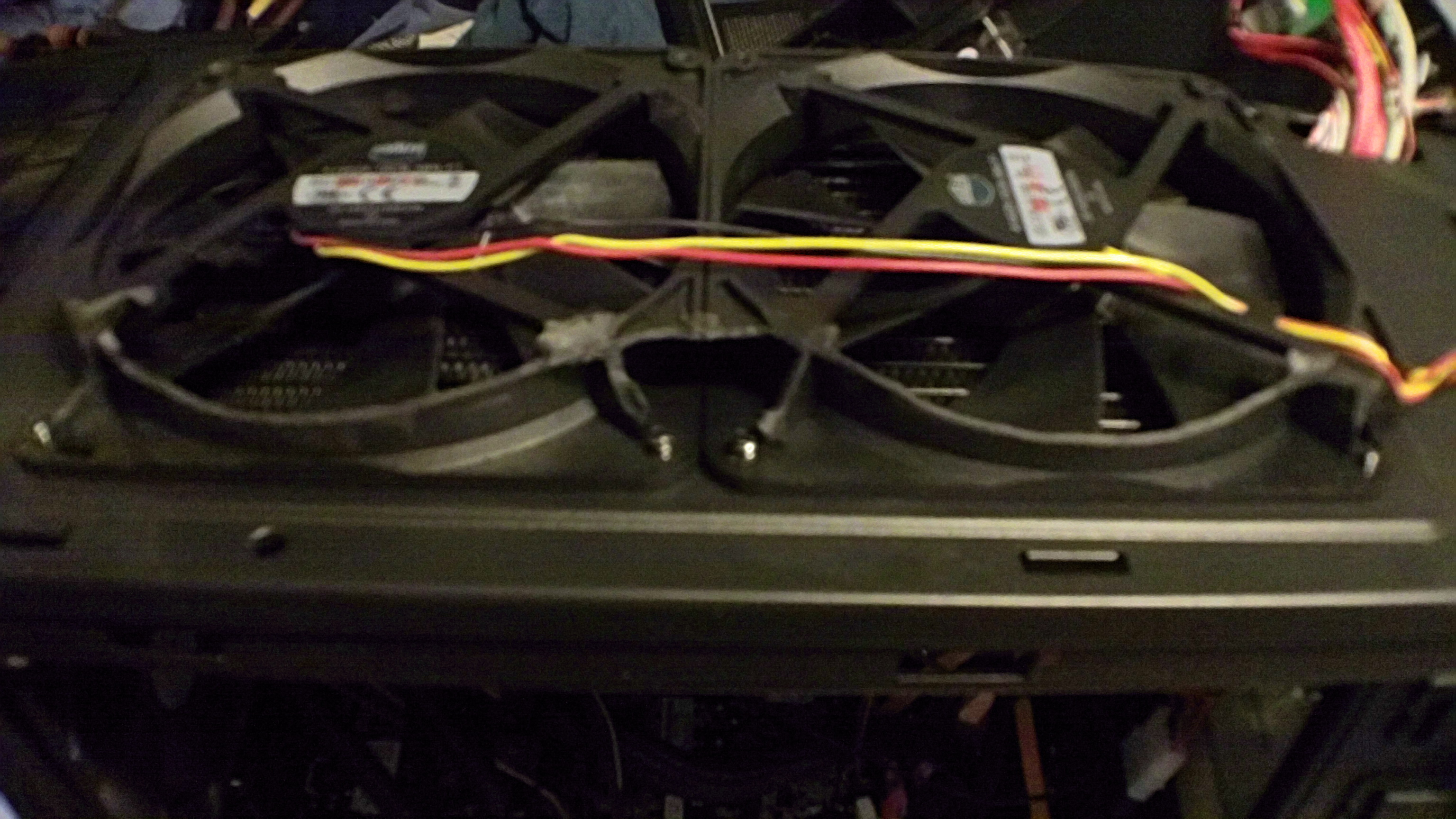 shaved the 140mm fans to fit on top of the cm690 ii advanced