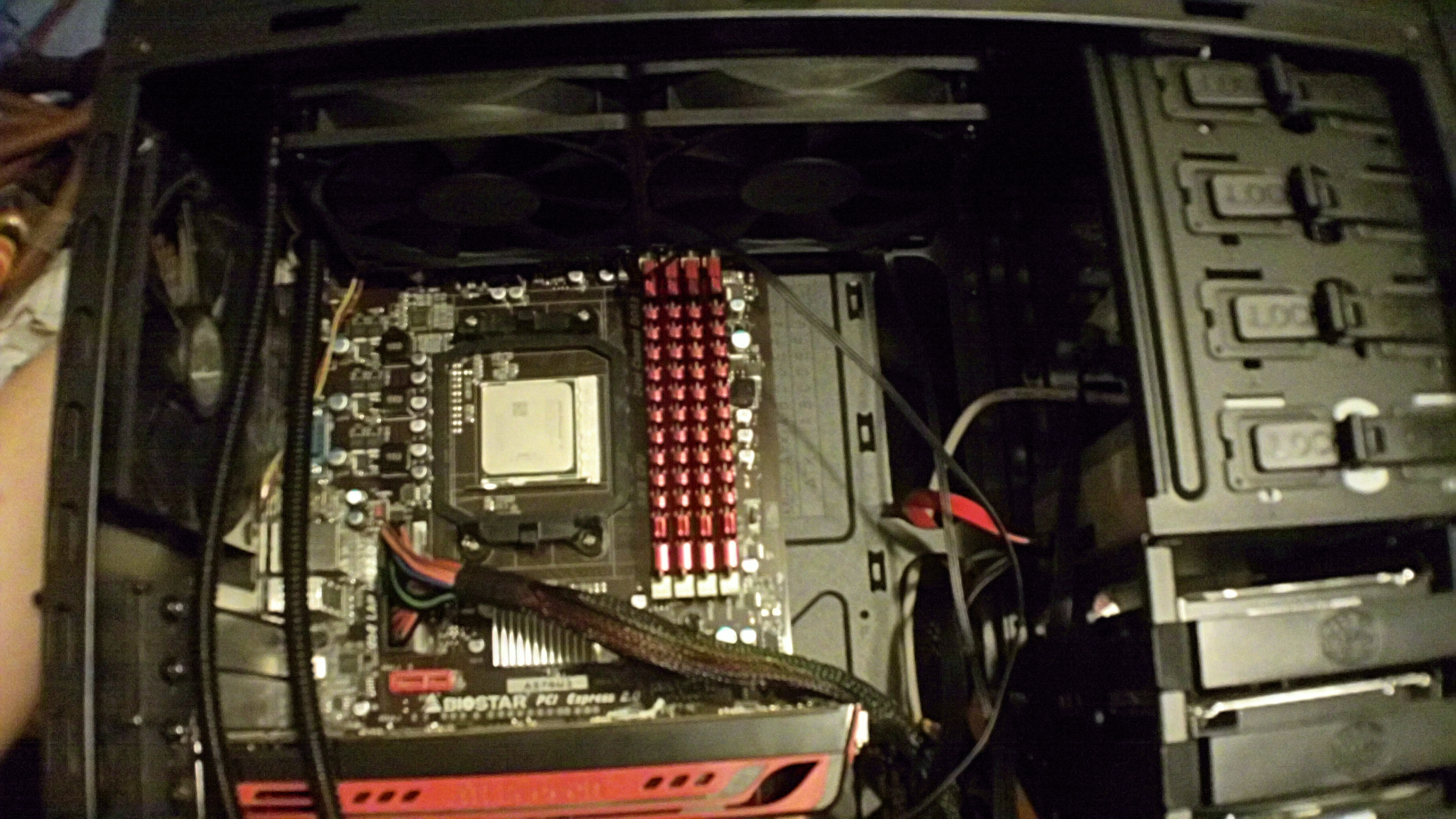 h100 rad/fans installed, just clears the ram.