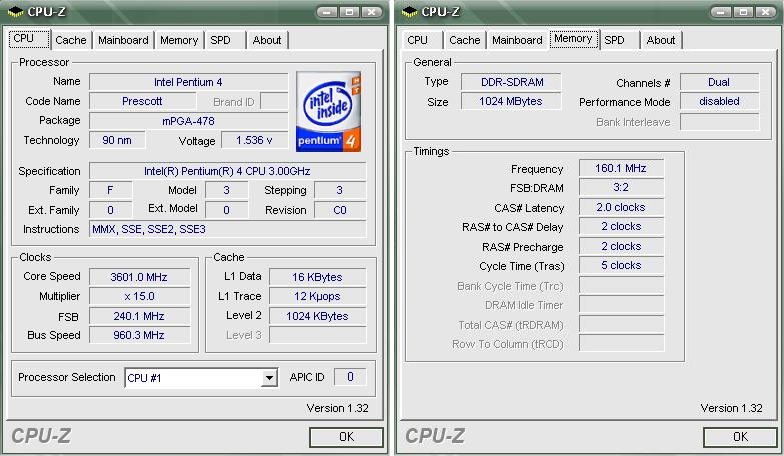 3.60 GHZ Overclocked P4 3.0 HT