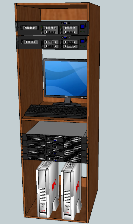 Custom/Home made server cabinet *Updated W/Pics* 2/3/2012