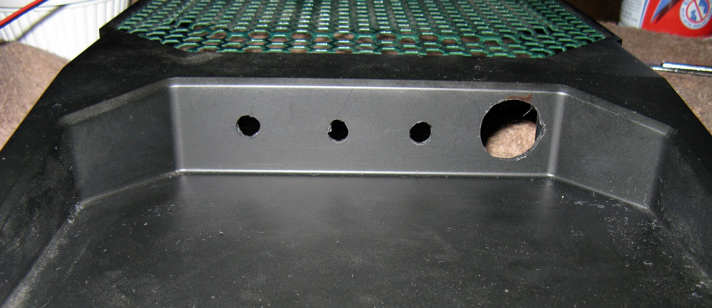 fan control and lighting hole cuts