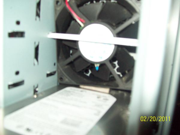 Jerry-rigged front fan i used to have in front fan bay