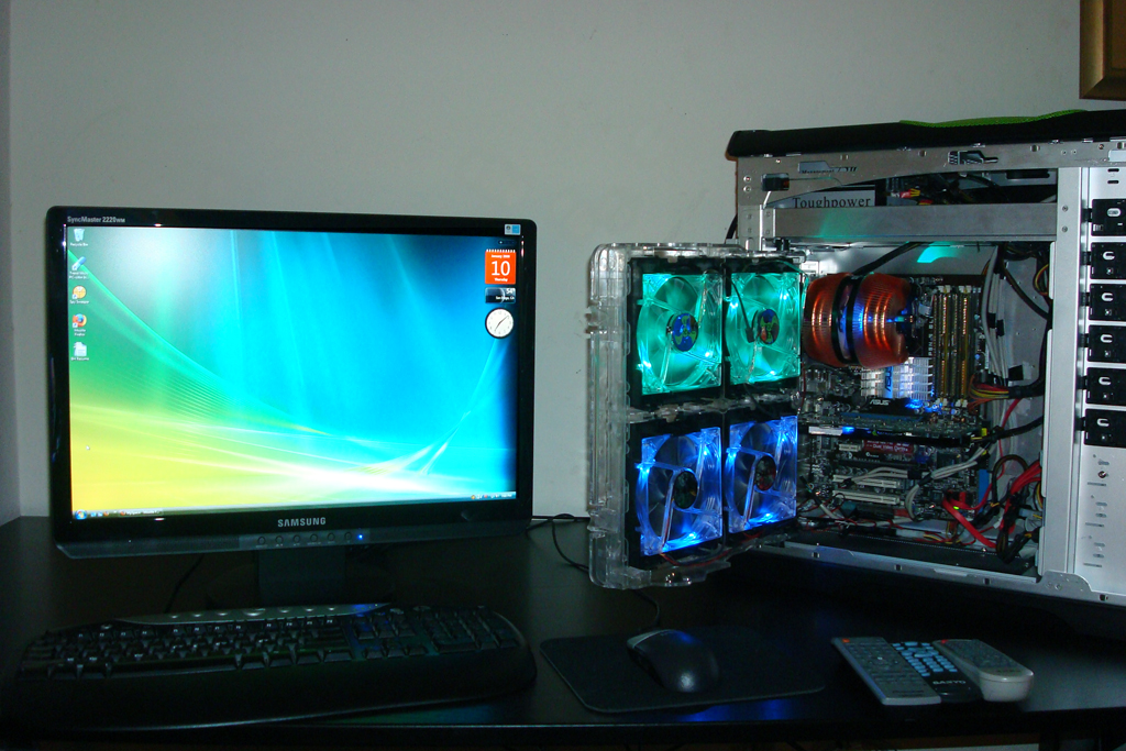 This is my pc, with the updated monitor unlike the old photo, I won the case off nvidia's one a day give away contest.