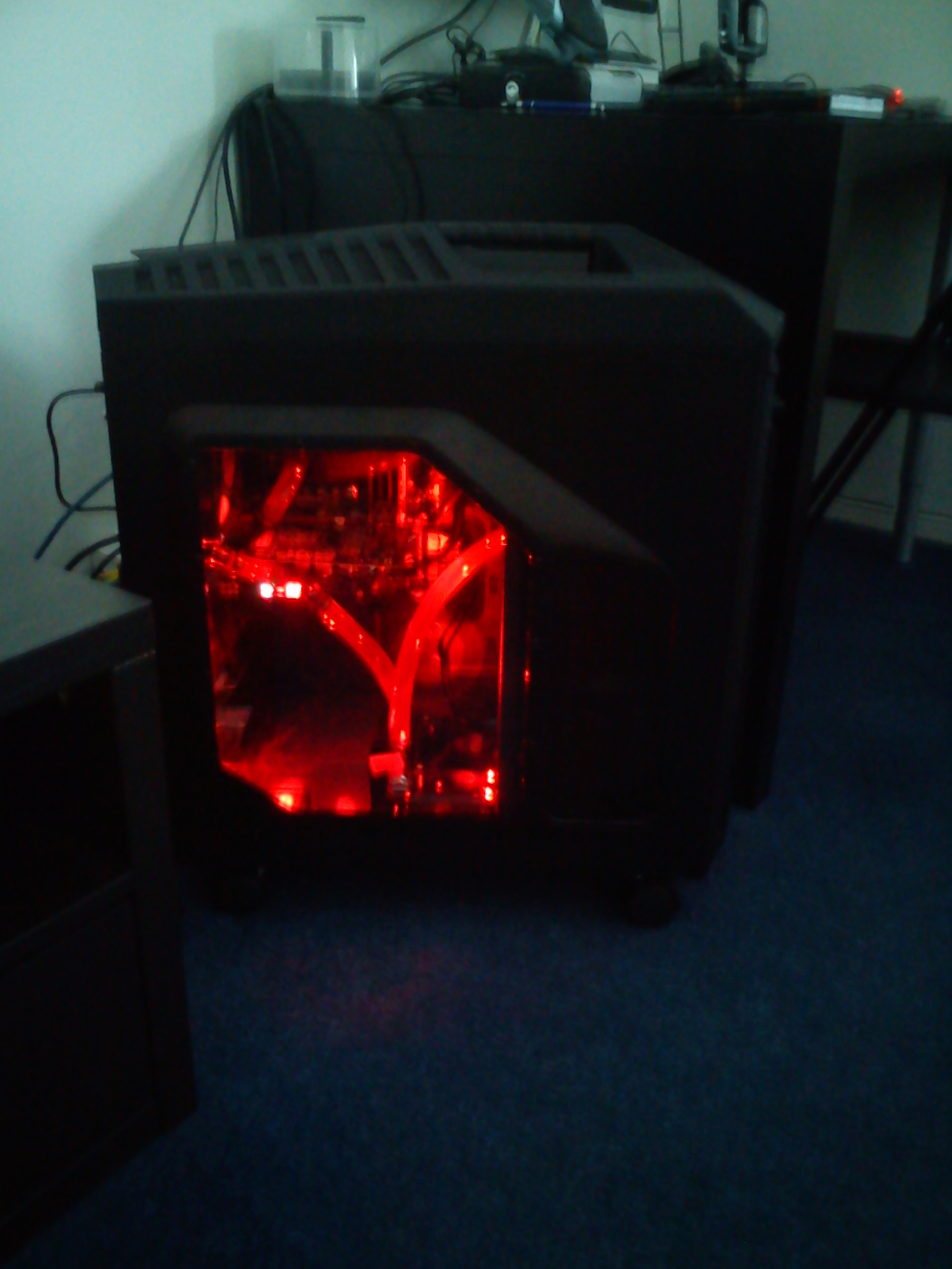 Added the NZXT Sleeved LED kit (red), setting 3