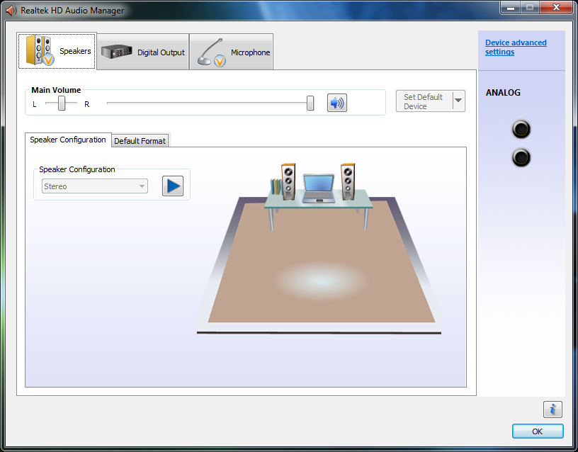 Realtek HD Audio Manager - Universal Jack (Retasking) - IP35
