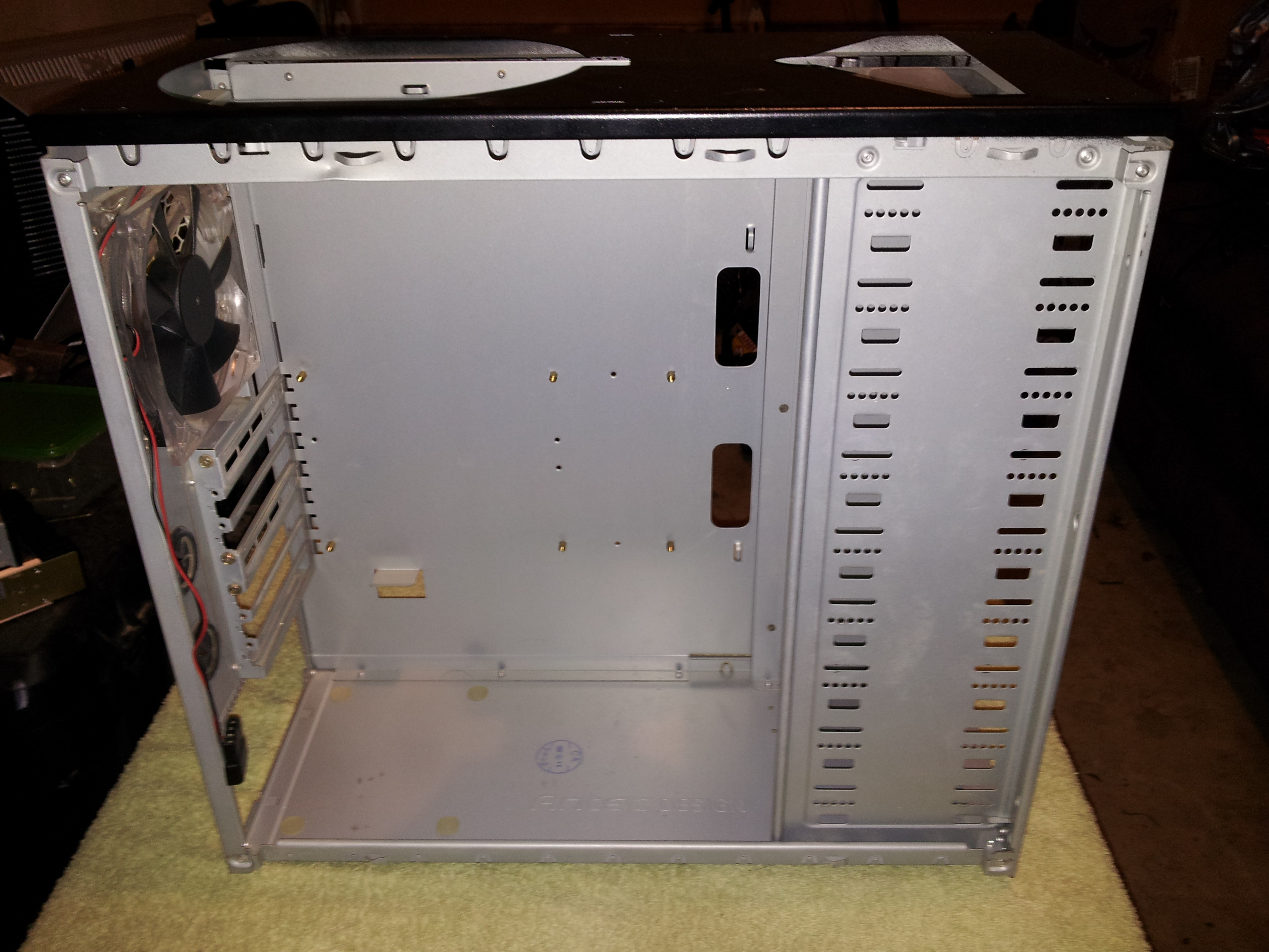Antec 900 case after being stripped down for cleaning and upgrade.