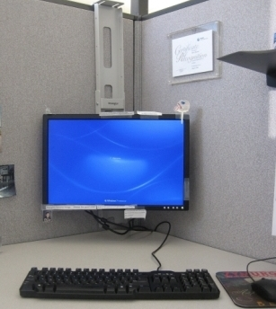 Way To Wall Mount Your Office Lcd On Cubicle Overclock An Overclocking Community