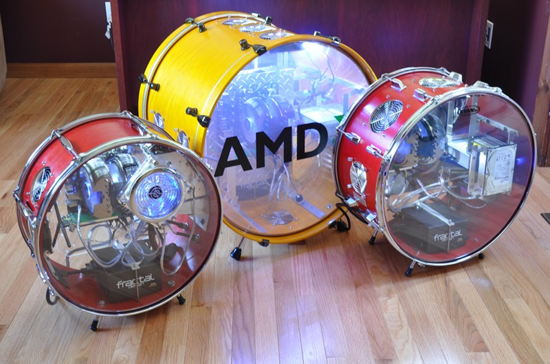 "Set of ""drum"" cases built for AMD"