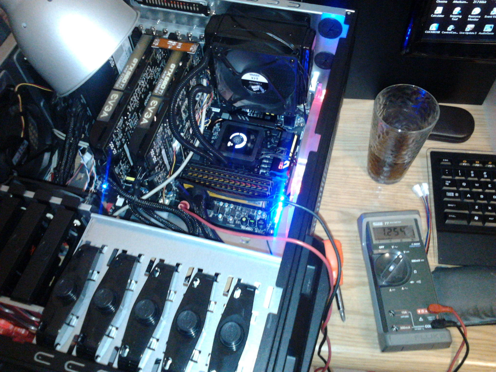 Testing and benching a new motherboard