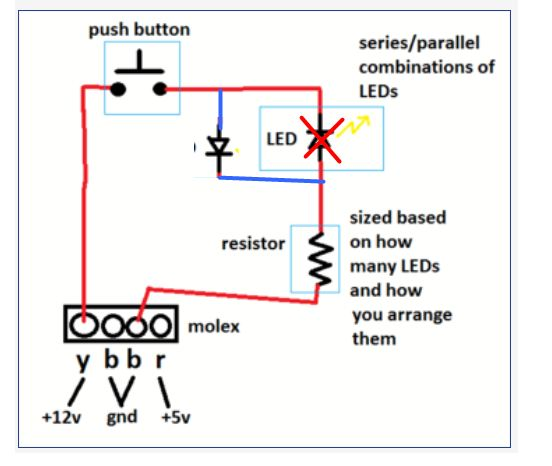 LL need help wiring a led to a push button switch 4 pin push button switch wiring diagram at gsmportal.co