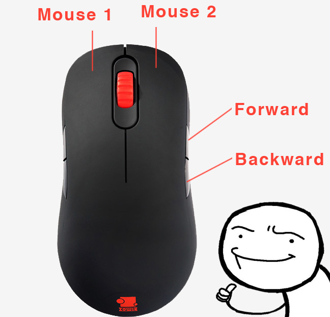 Zowie AM - Lefty Issues: Mouse 1 & Mouse 2 Reversal