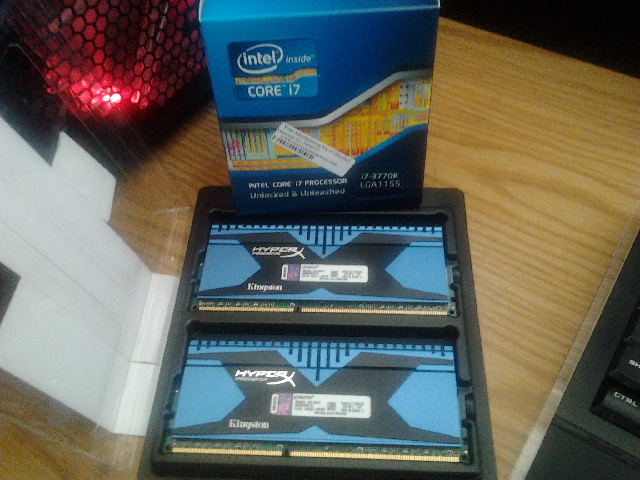 3rd 3770K & 8GB of Hyper X Predator 2133 to play with!