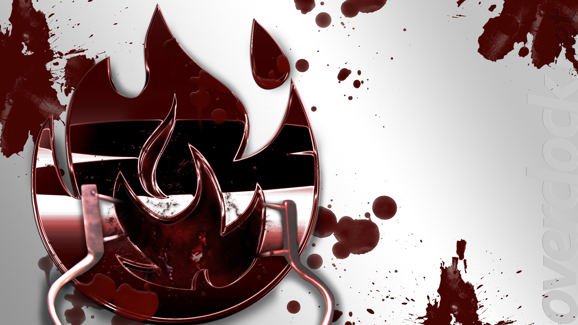 Was asked to do a blood splatter wallpaper for a resident eveil theme build.. So here it is.