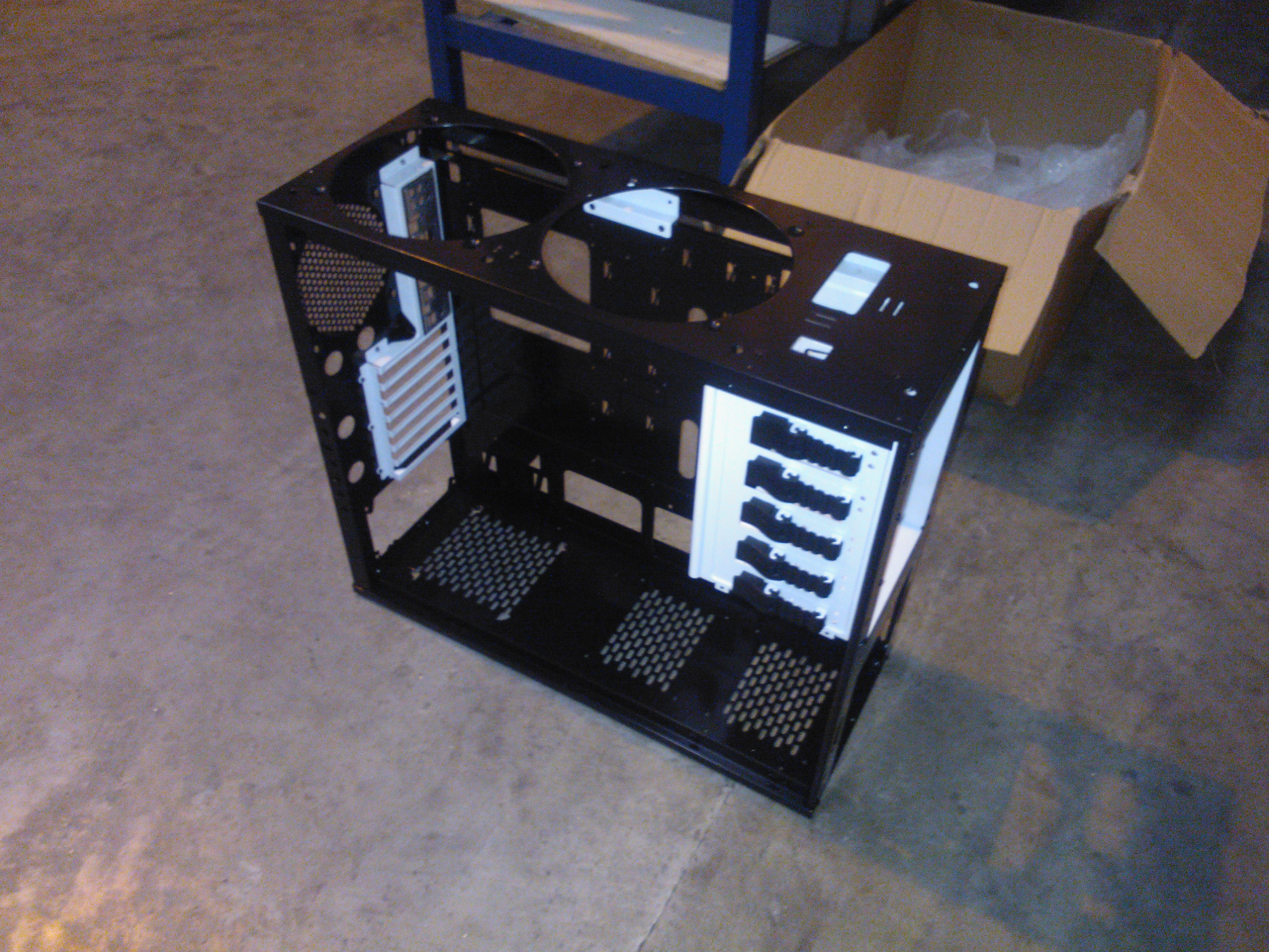 Chassis back from powder coaters and assembled