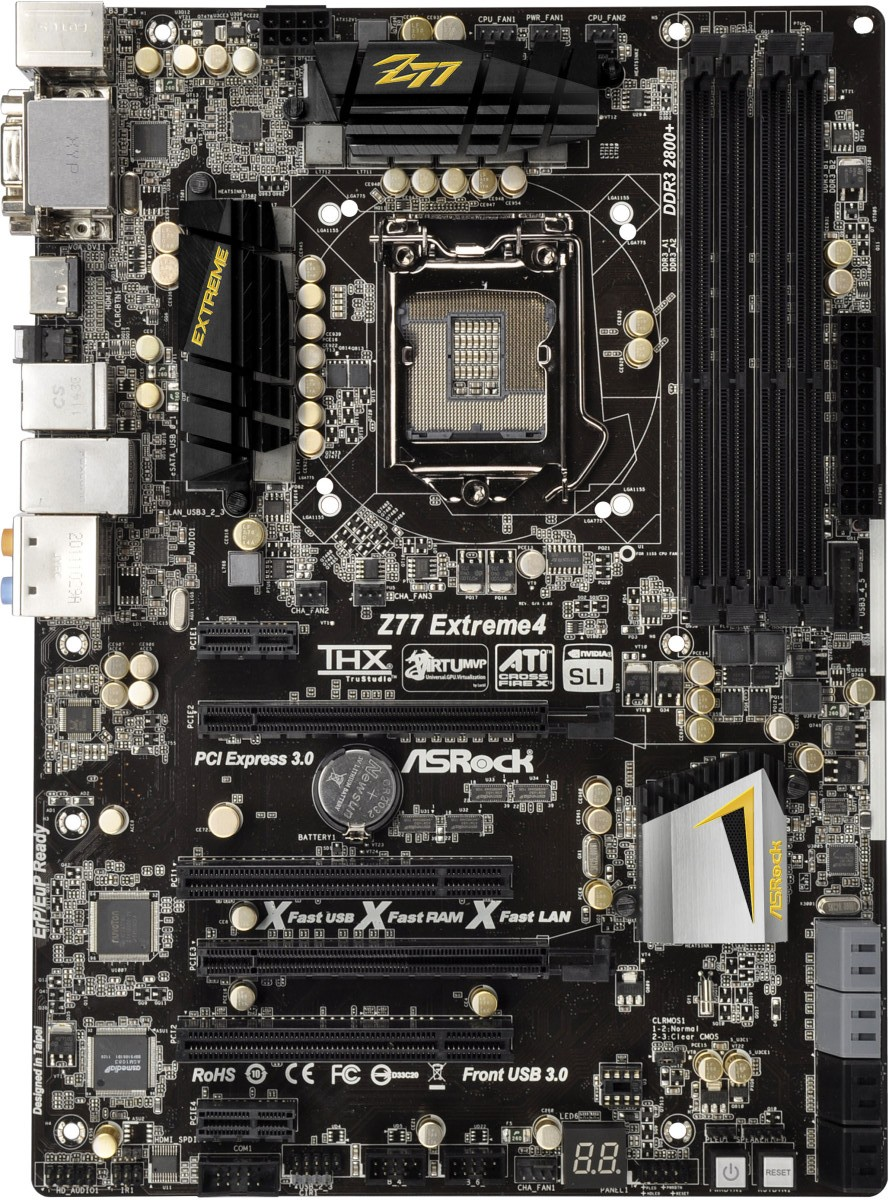 Asrock Z77 Extreme4 ATX Intel Motherboard