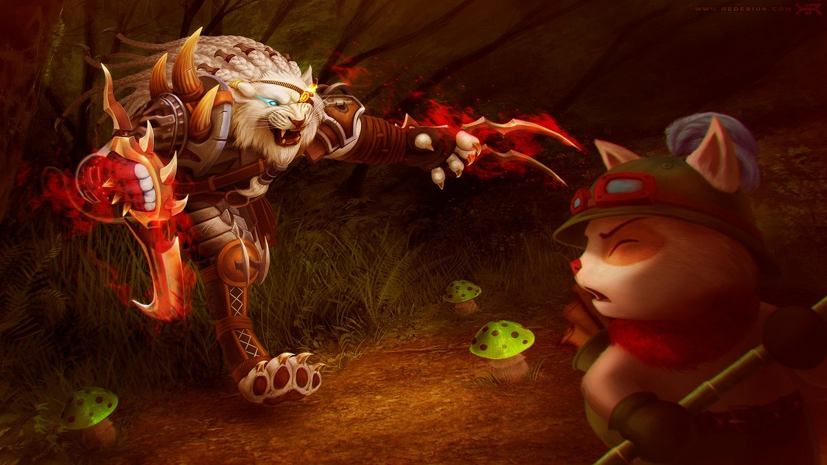 *This is Rengar. This is Teemo. See Teemo run.