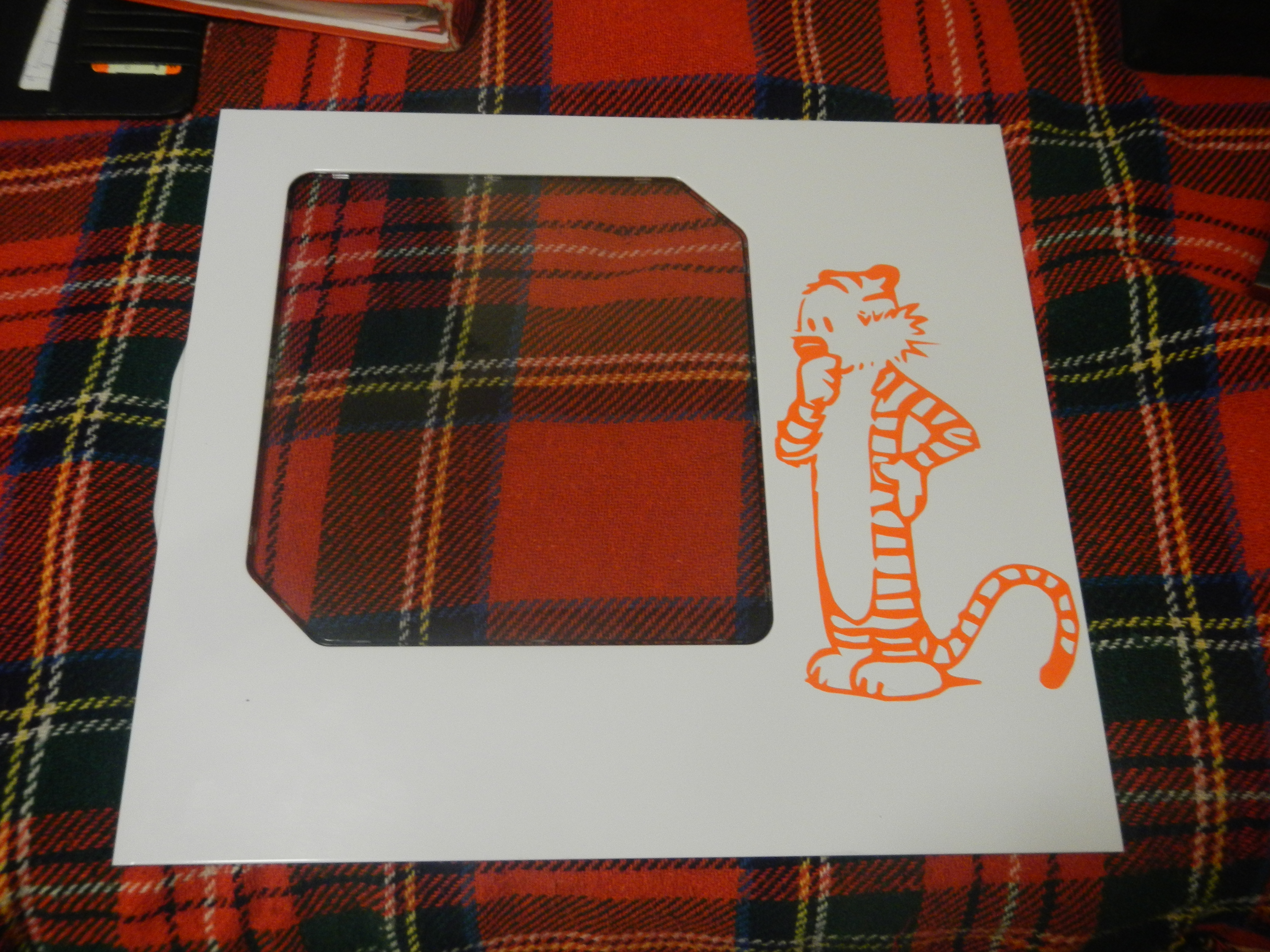 Hobbes stencil work... only took 5/6 hours to cut out ^_^