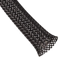 Polyethylene Terephthalate (PET) braided sleeving, good for grouping your cables, increasing airflow and making things look tidy. Inexpensive eBay $3.00CA