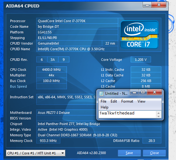 Intel Core i7 3770K Quad Core Processor 8 MB Cache