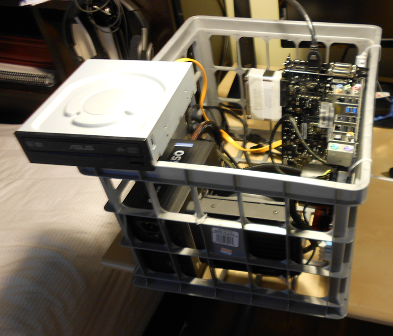 My server build. Optical is just there to install OS.