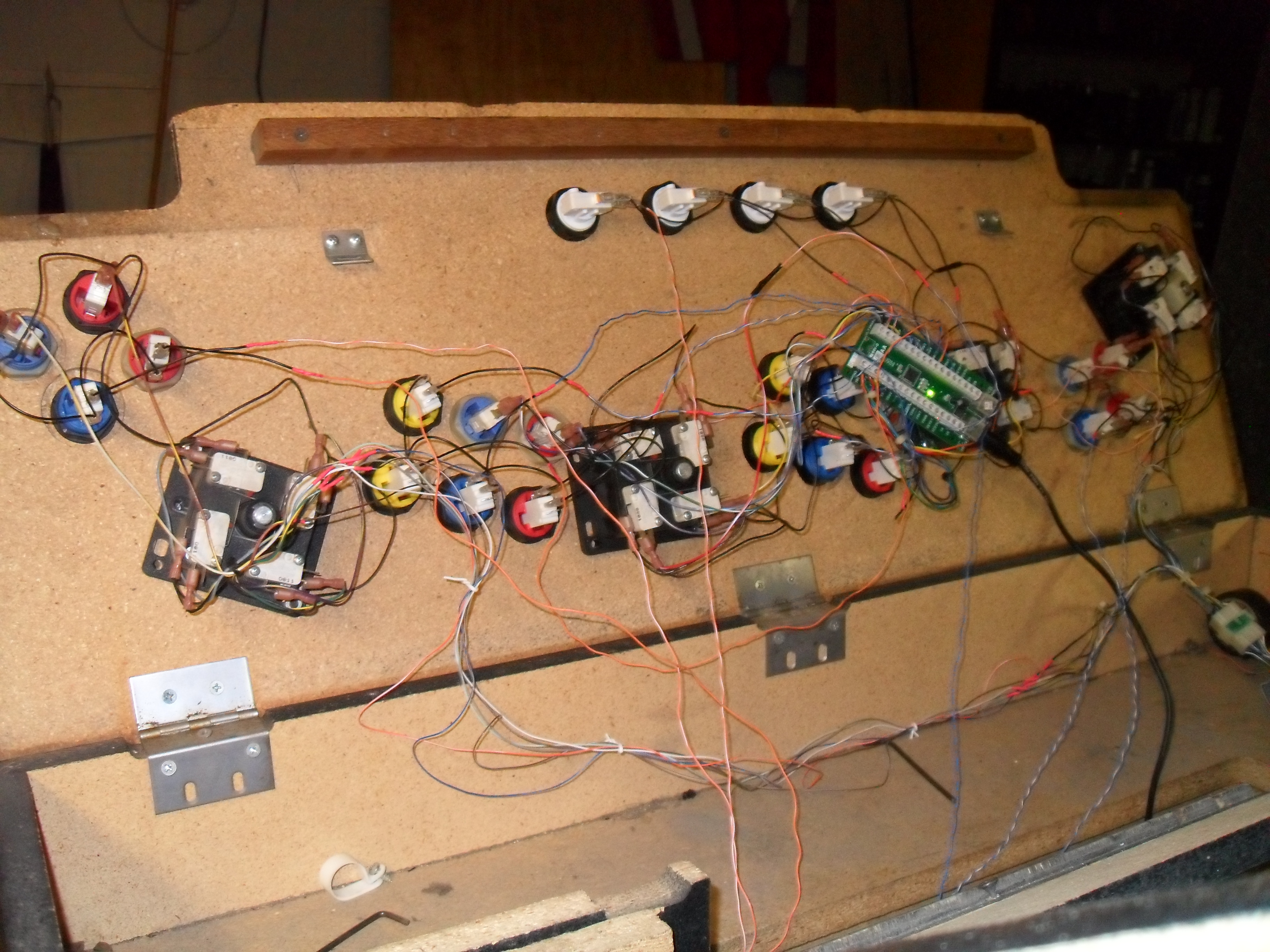 Completed control panel underside