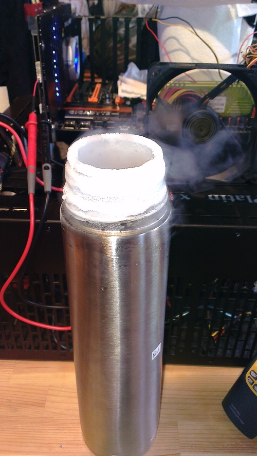 Driftingforlife's flask dissipating into the aforementioned black hole