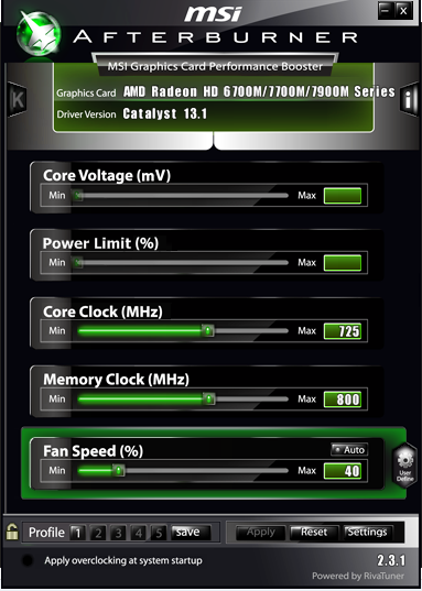 MSI Afterburner not unlocking Core Voltage option
