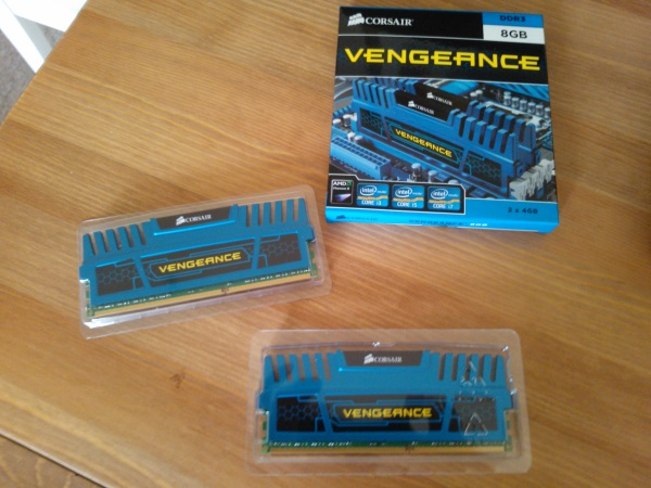 Corsair Vengeance Blue 8GB (2x4GB)