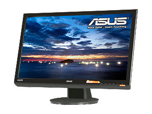 "ASUS VH242H Black 23.6"" 5ms HDMI Full 1080P Widescreen LCD Monitor 300 cd/m2 ASCR 20000:1 (1000:1) W/Speakers"