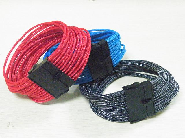 24pin ATX pre sleeved power cable with Braided sleeving