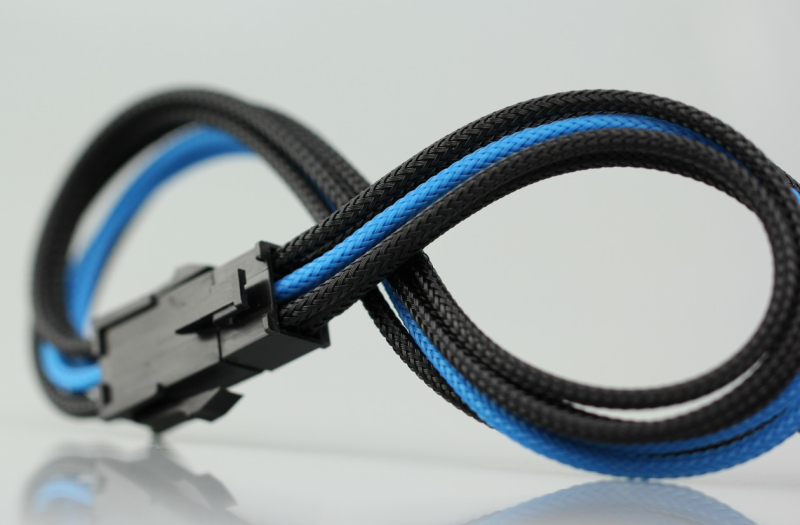 6-Pin pre sleeved PCI Express cable 
