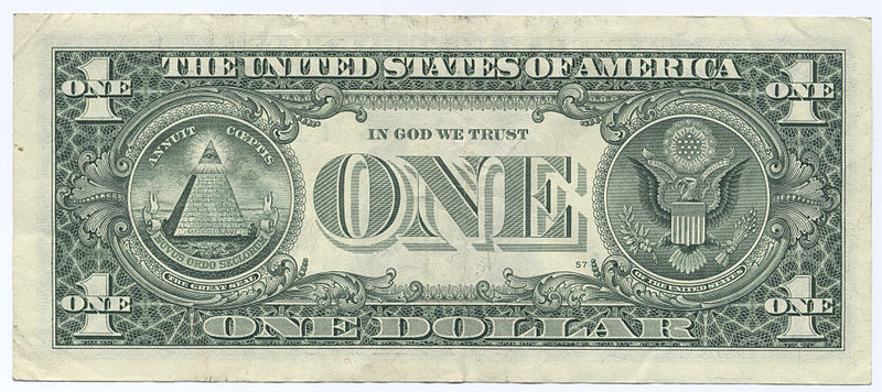 File source: http://commons.wikimedia.org/wiki/File:United_States_one_dollar_bill,_reverse.jpg