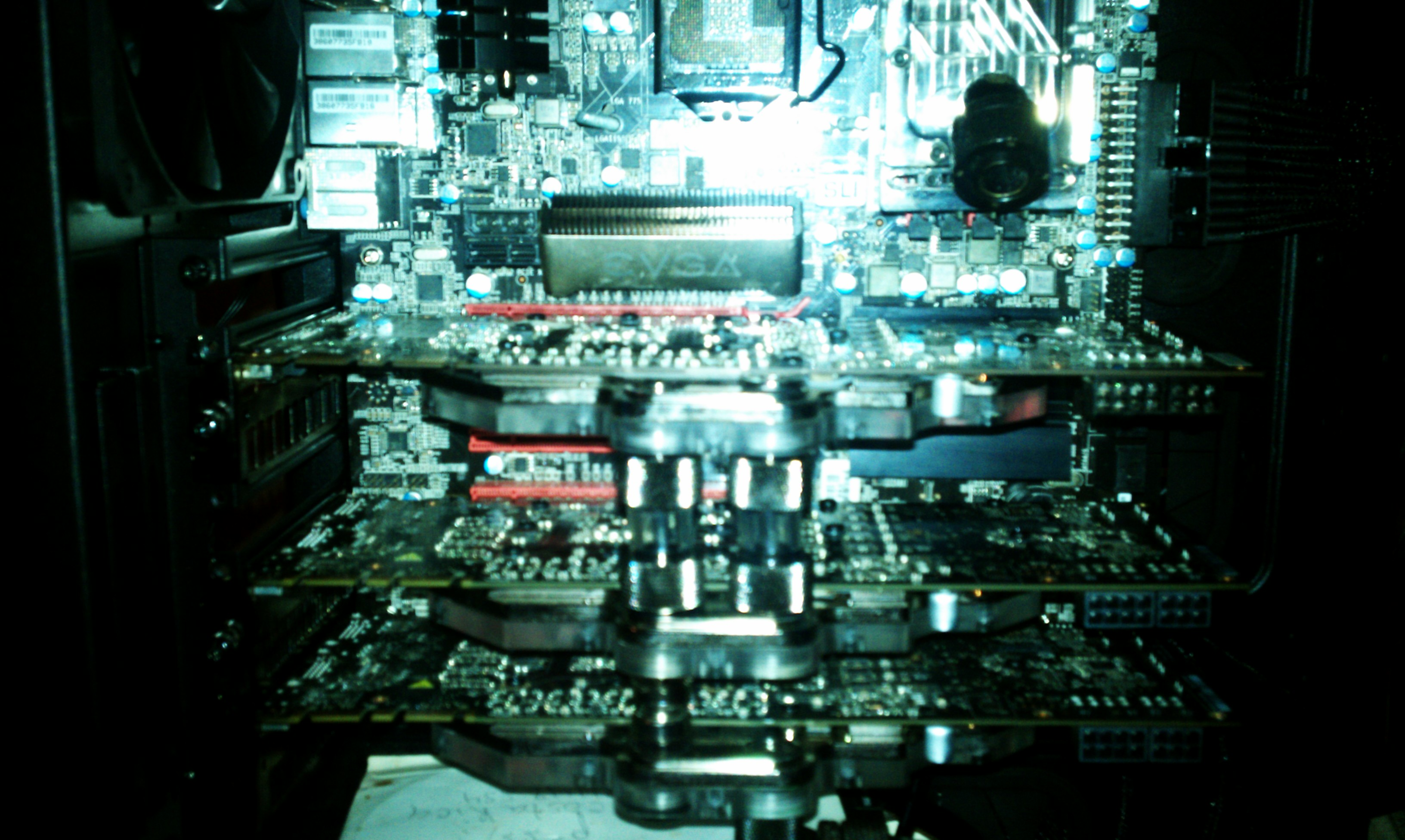just did few small mods an put in my last evga gtx 580 3gb gpu with fittings,