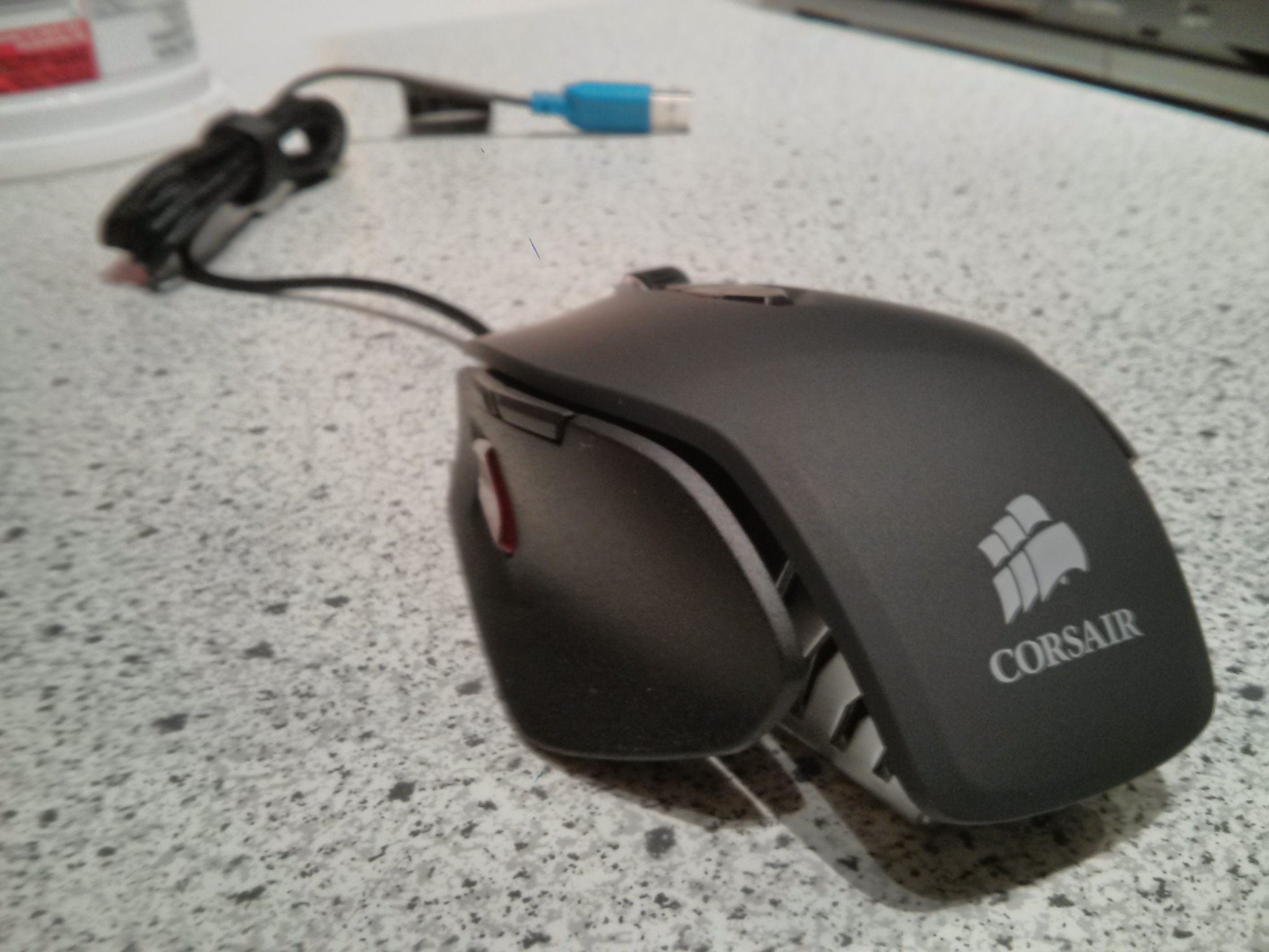 The Corsair M65 Laser FPS Gaming mouse