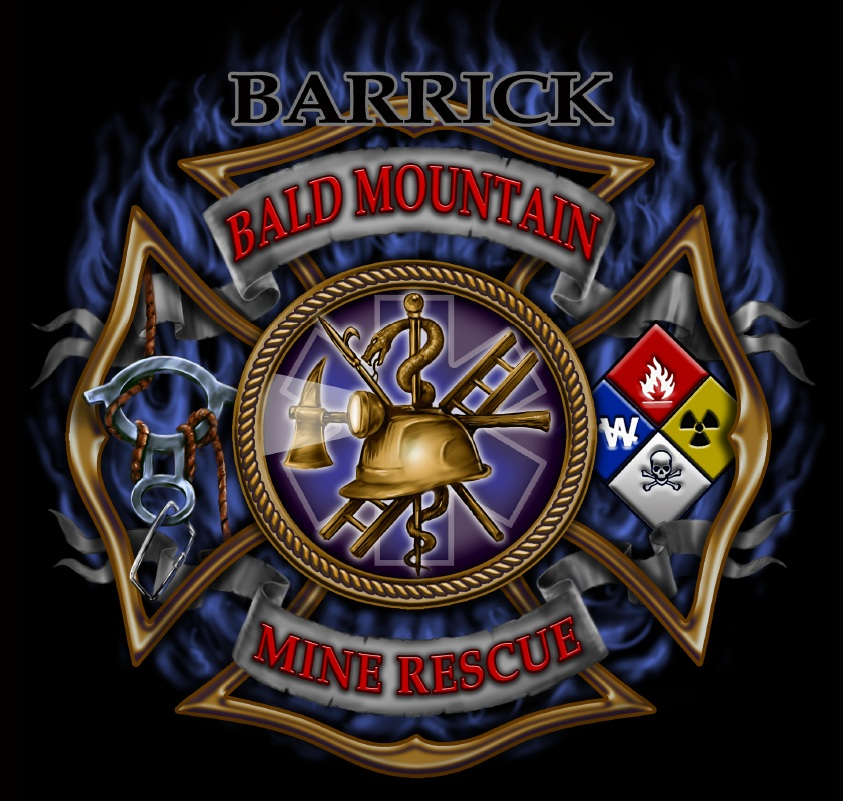 This is the mine rescue logo we had designed by Scott Jackson (Monsterman Graphic), for my wife's employer. And she is a team member and one bad assed EMT!