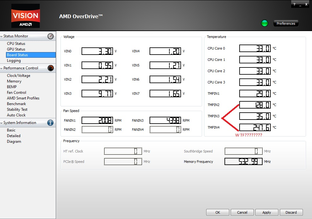 TMPIN2 & TMPIN4 Insanely hot temperatures?What gives? - Overclock
