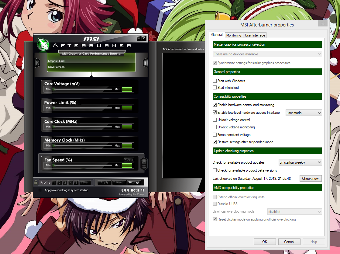 MSI afterburner not detecting any video card? - Overclock net - An