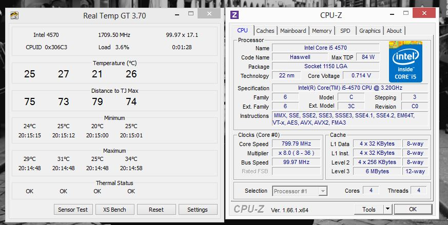 i5-4570 always runnng at 3 6ghz (turbo speed) - Overclock