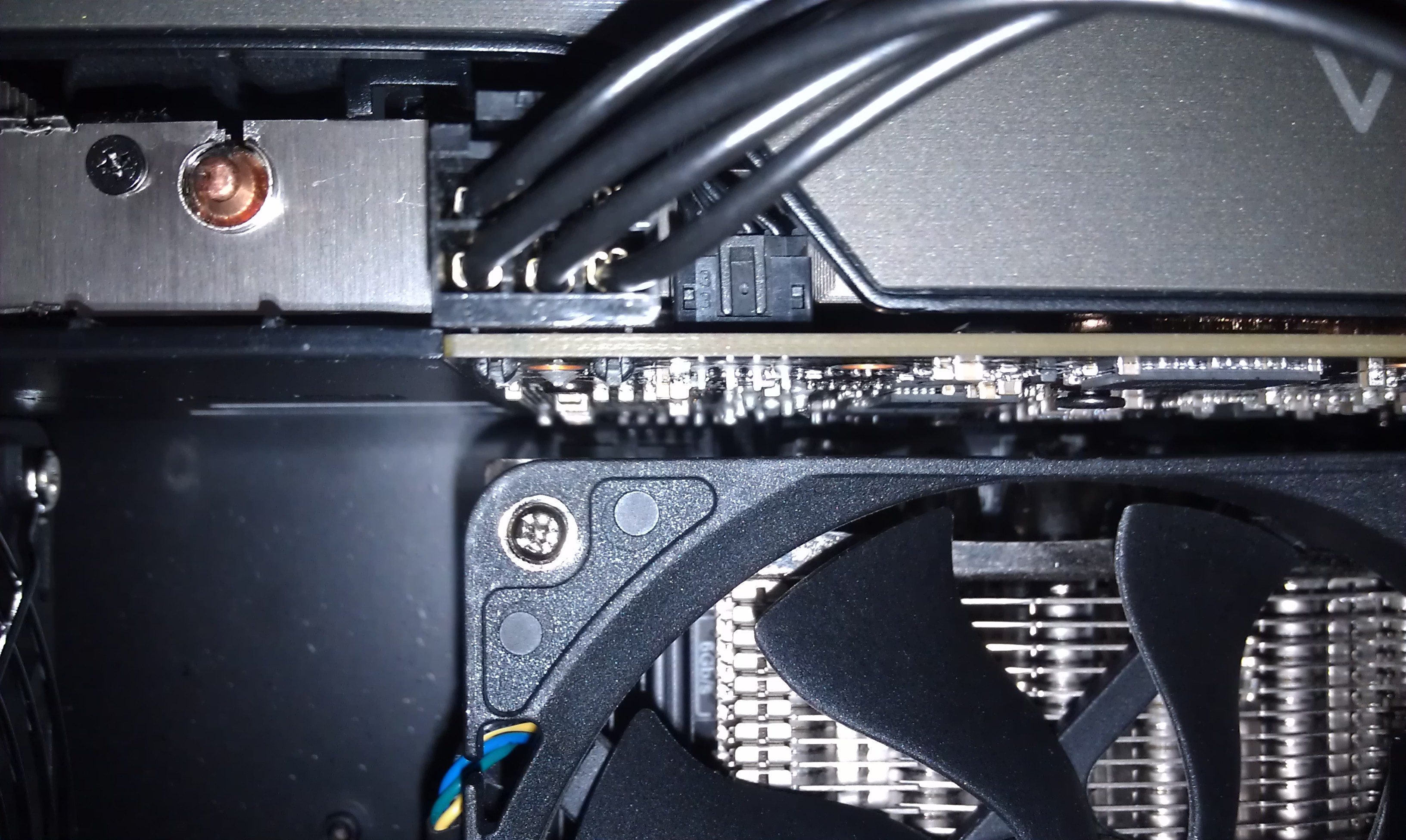 Space between Prolimatech Samuel 17 and EVGA GTX660 FTW Signature 2 on a Gigabyte H77N-WIFI mITX motherboard