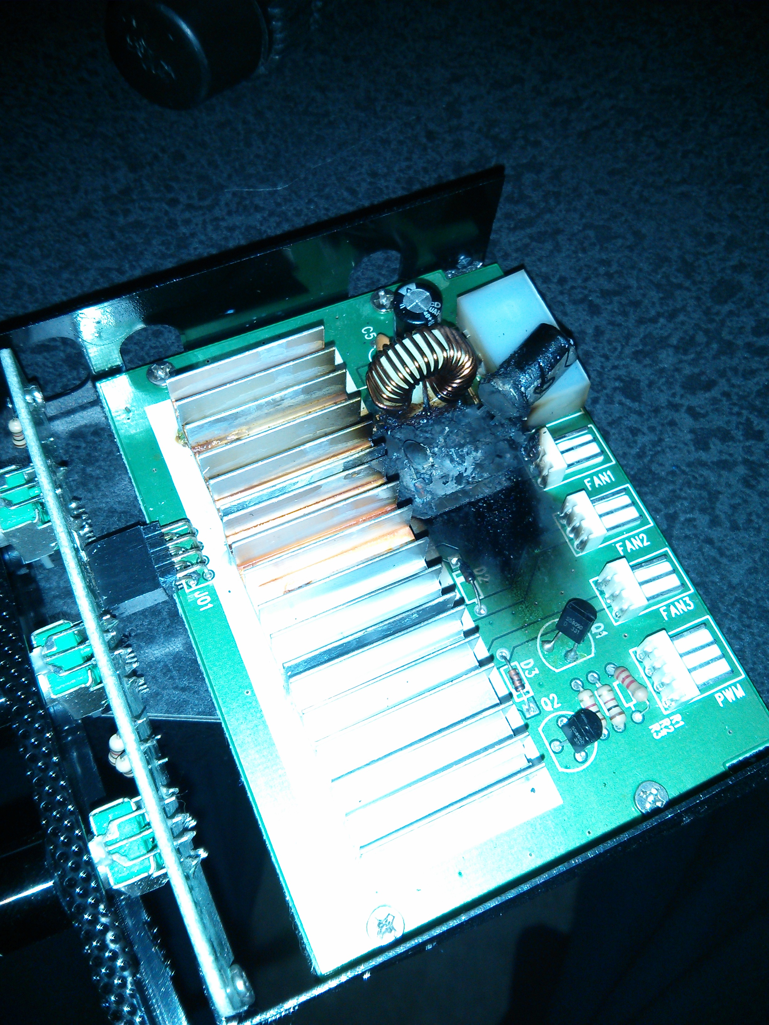 Fan Controller Burnt up, This is Top angle