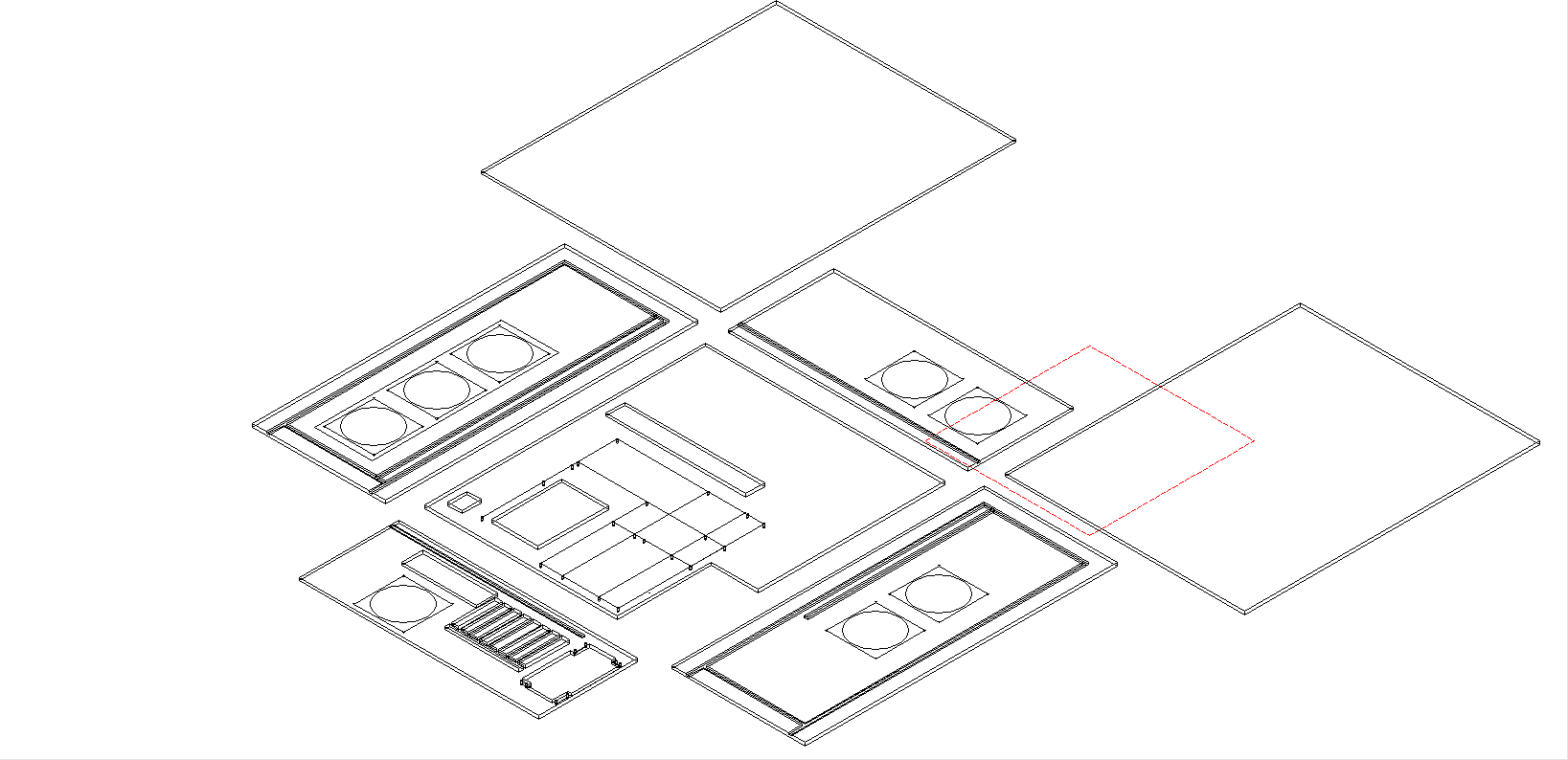 Plexi Case blueprint Via TurboCAD