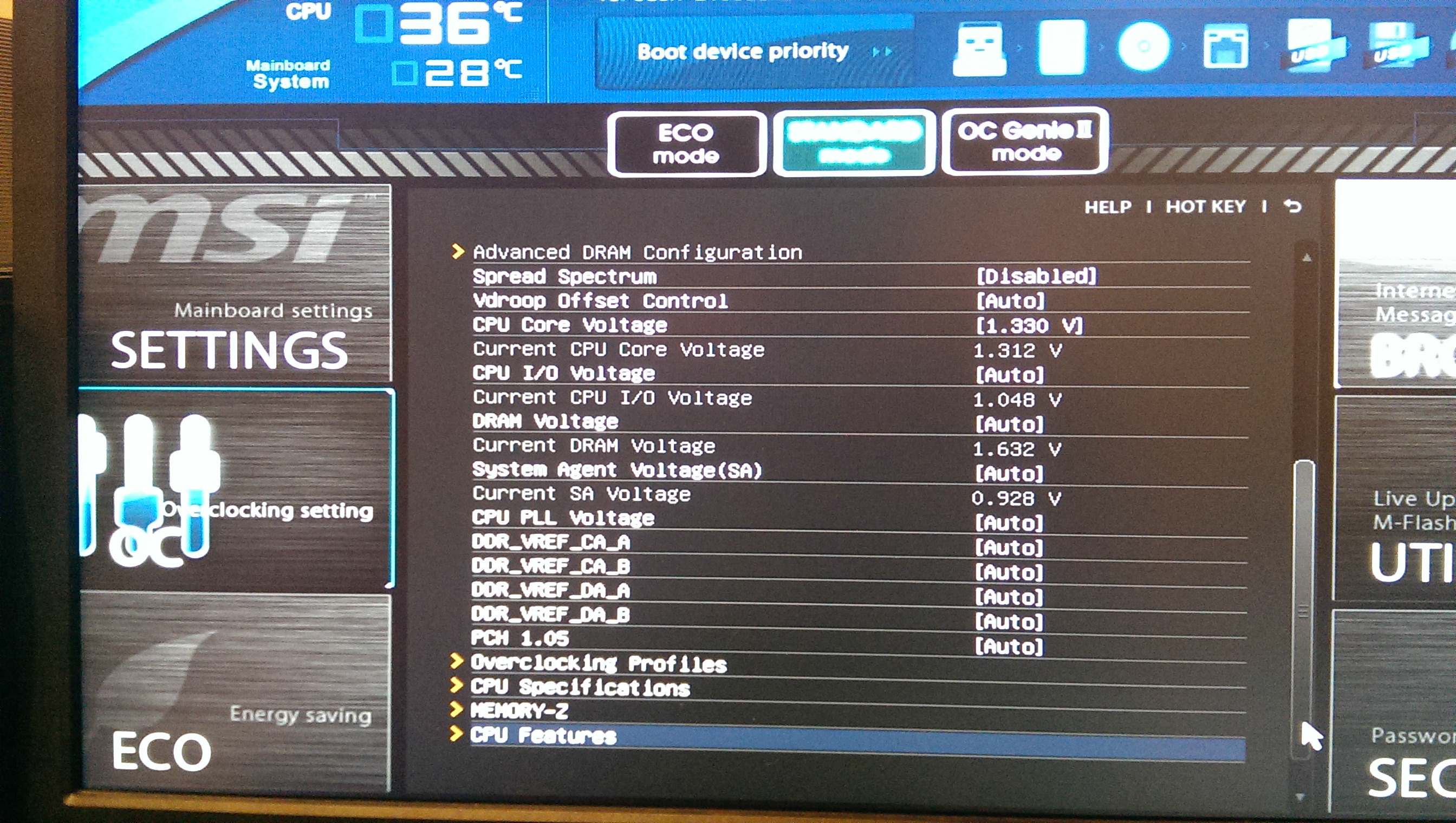 Best BIOS settings for Performance and Low Power when Idle
