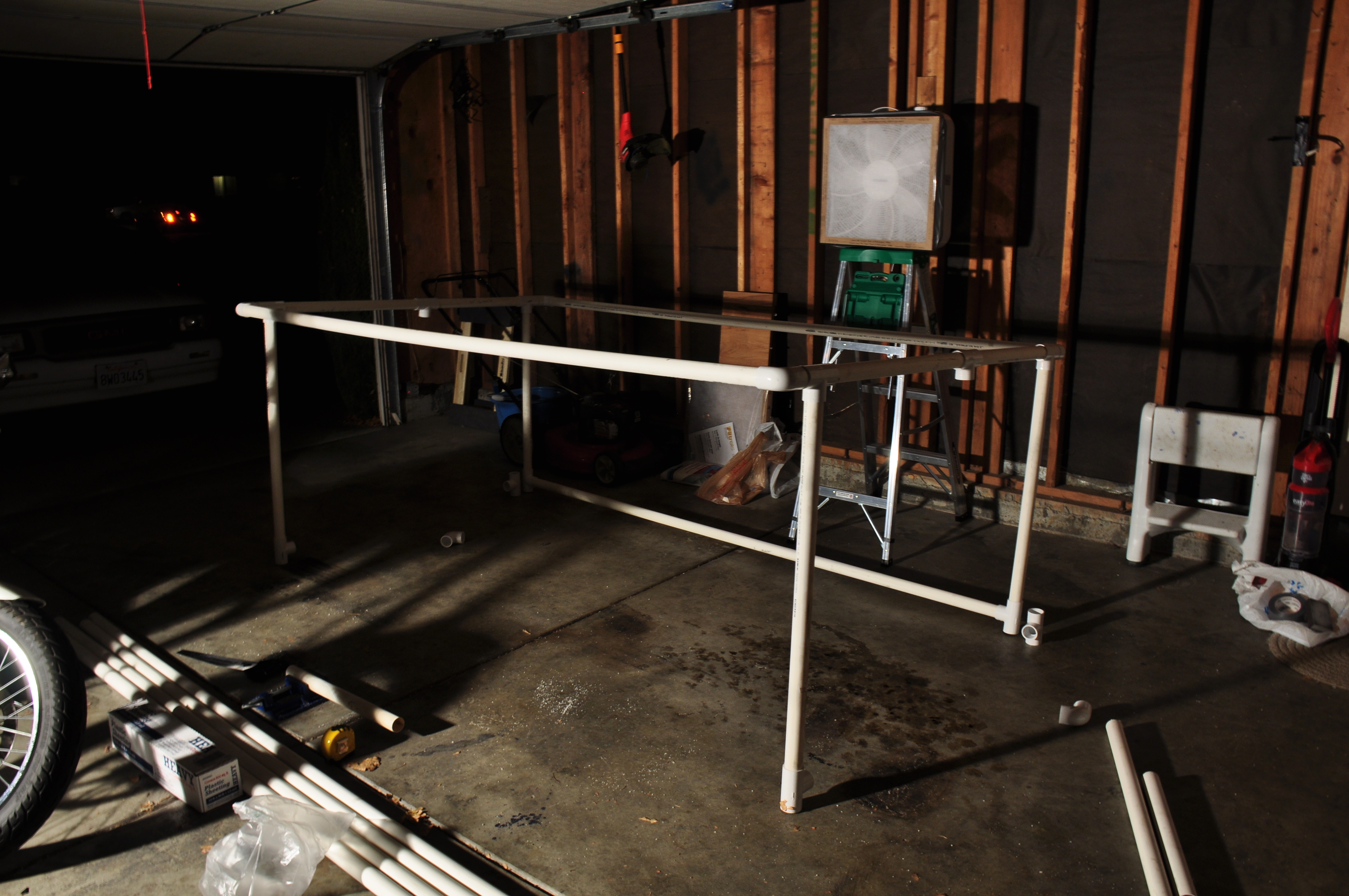 Building a paint booth for the spray painting.
