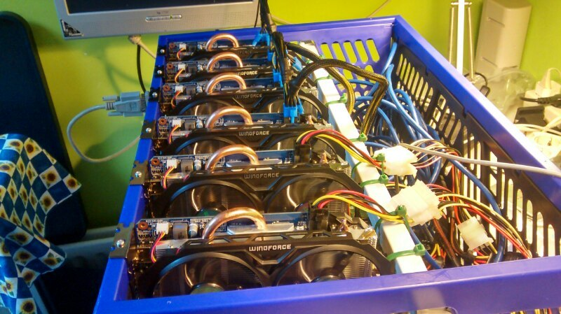 Image result for mining rig milk crate