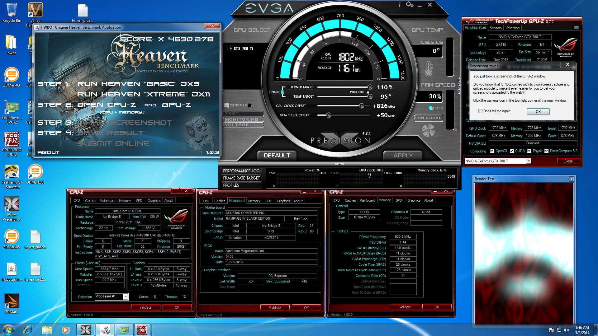 Heaven benchmark screenhot for HWBOT.org