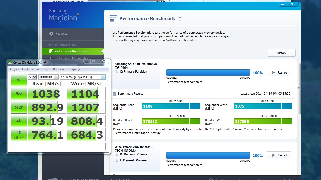 You are not going to believe this: Samsung 840 Evo 500GB Benchmark